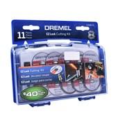 Kit para Mini Retífica EZ688 com 11 Discos de Corte Dremel