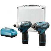 Kit Parafusadeira/Furadeira e Chave de Impacto à Bateria DK1462 Bivolt Makita