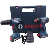 Kit Parafusadeira Furadeira GSB 180-LI e Chave de Impacto GDX 180-LI 18V
