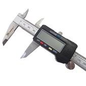 """Paquímetro Digital 6"""" Aço Inox Estojo E Bateria Mtx"""