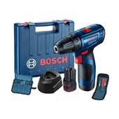 """Parafusadeira Furadeira  3/8"""" 12V 2 Baterias e Acessórios GSR 120-LI Bosch"""