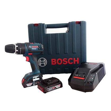 Parafusadeira Furadeira de Impacto 18v GSB 18 V-LI Bosch 2 Baterias - 2Ah