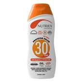 Protetor Solar FPS30 UVA 120ml Nutriex