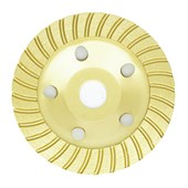 """Rebolo Prato Diamantado Turbo Segmentado Desbaste 5"""" 125mm Strong"""