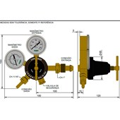 Regulador de Pressão Argônio RI-30N Famabras