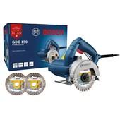 """Serra Mármore 5"""" 1500w GDC 150 Titan com 2 Discos Bosch"""